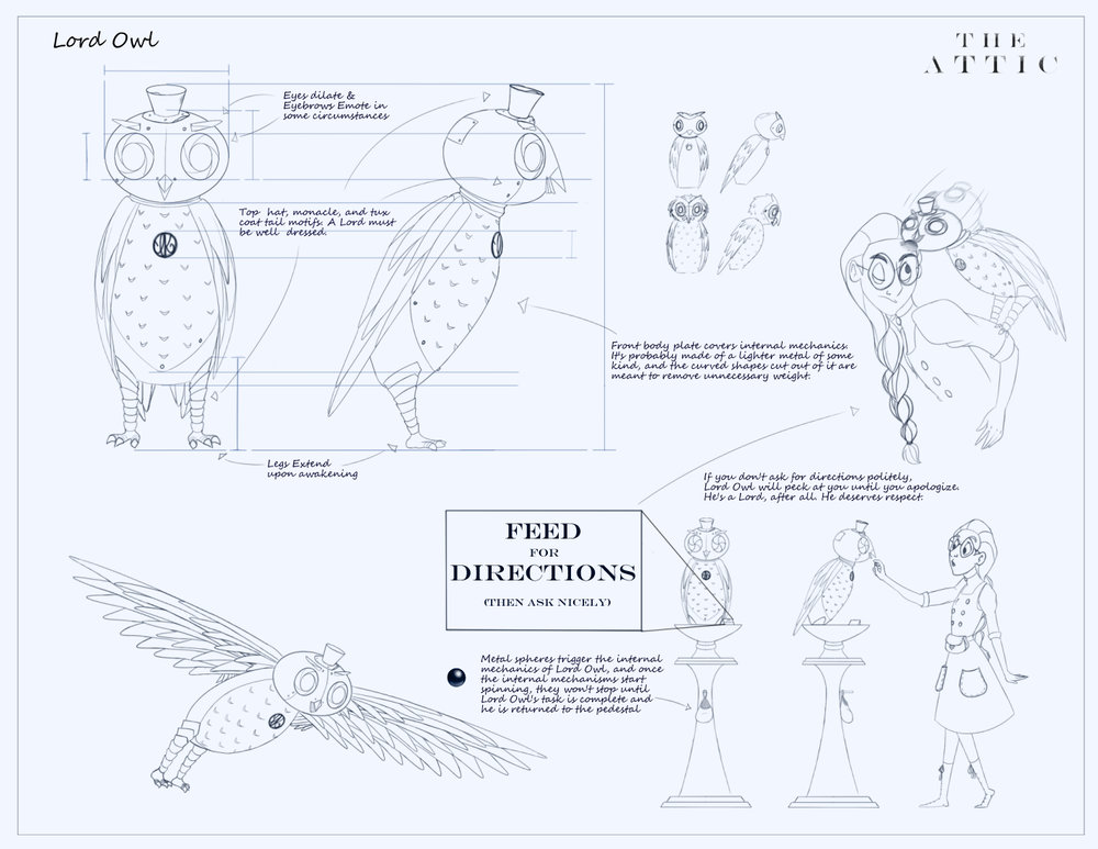 Lord Owl - Prop Blueprint Sheet