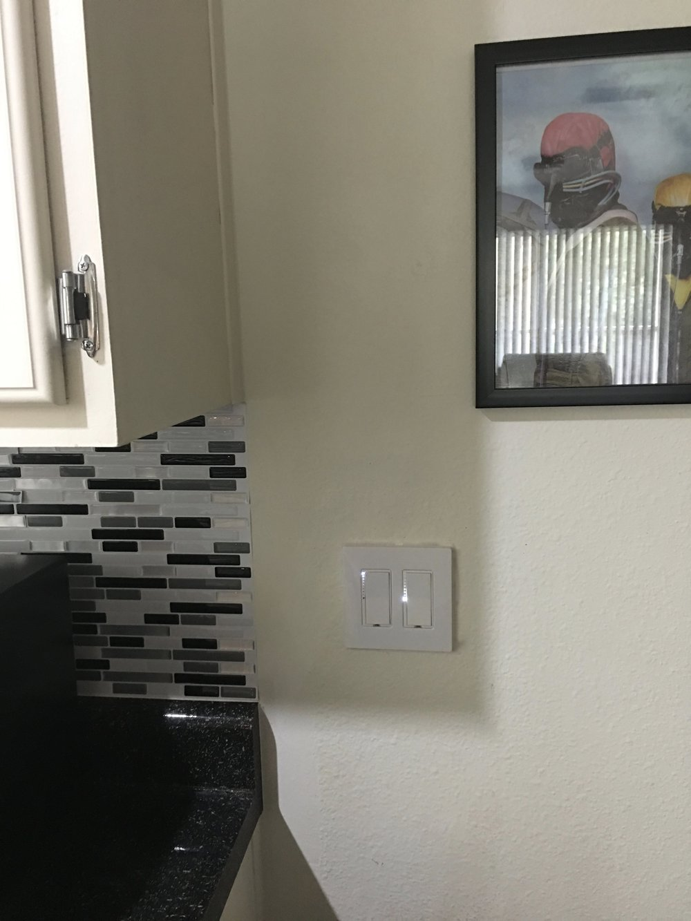 Insteon switches controlling kitchen and office space
