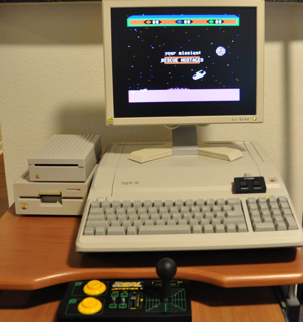 Apple //e Platinum with CFFA 3000 Floppy Emulator and Floppy Control Switch