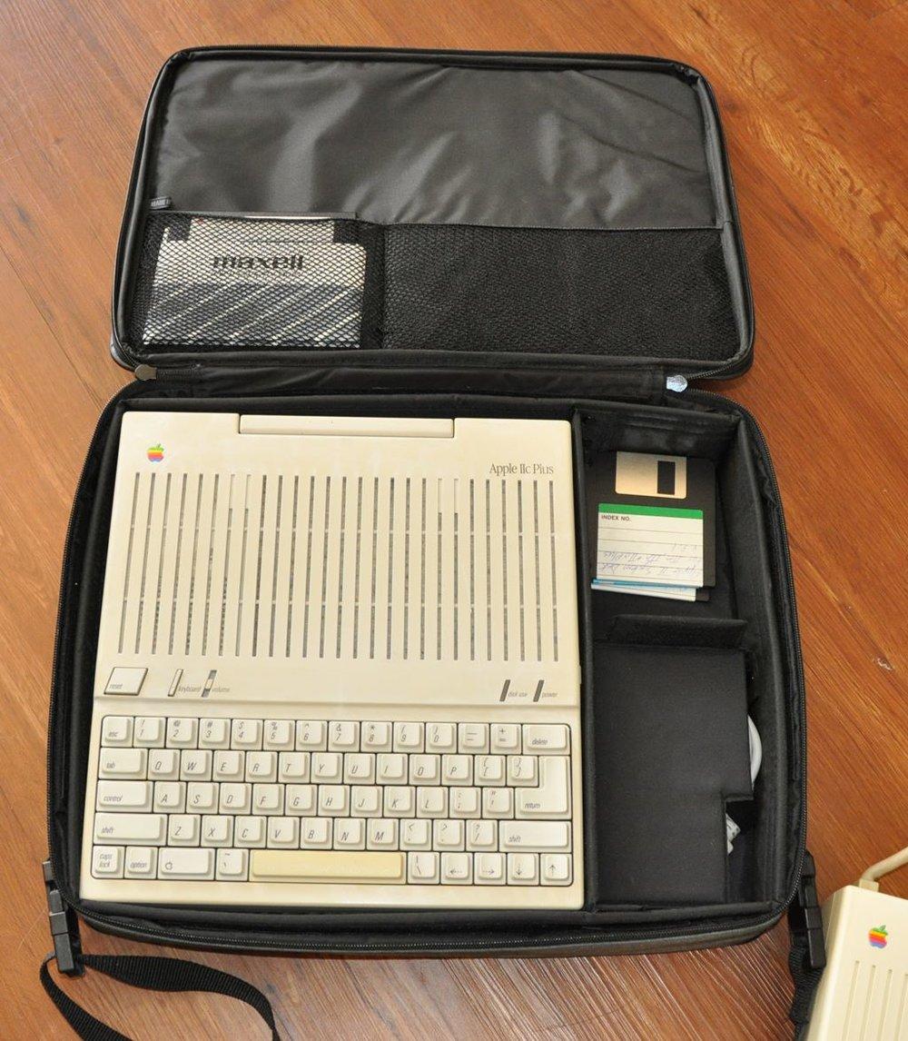 Apple IIc Plus in case before retrobrite