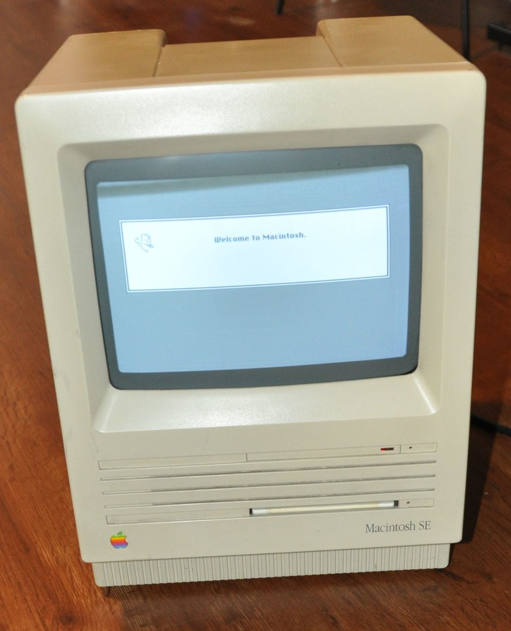 Macintosh SE - the most common of the original Macintosh. These came out a bit later in the game. The Apple II predates these