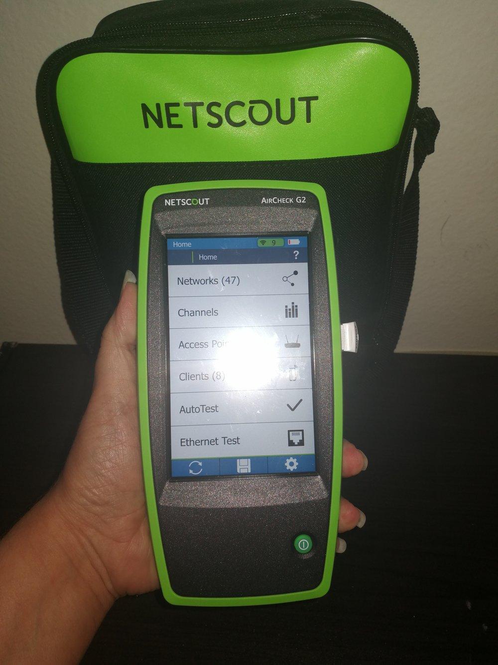 Netscout Aircheck G2 Homescreen