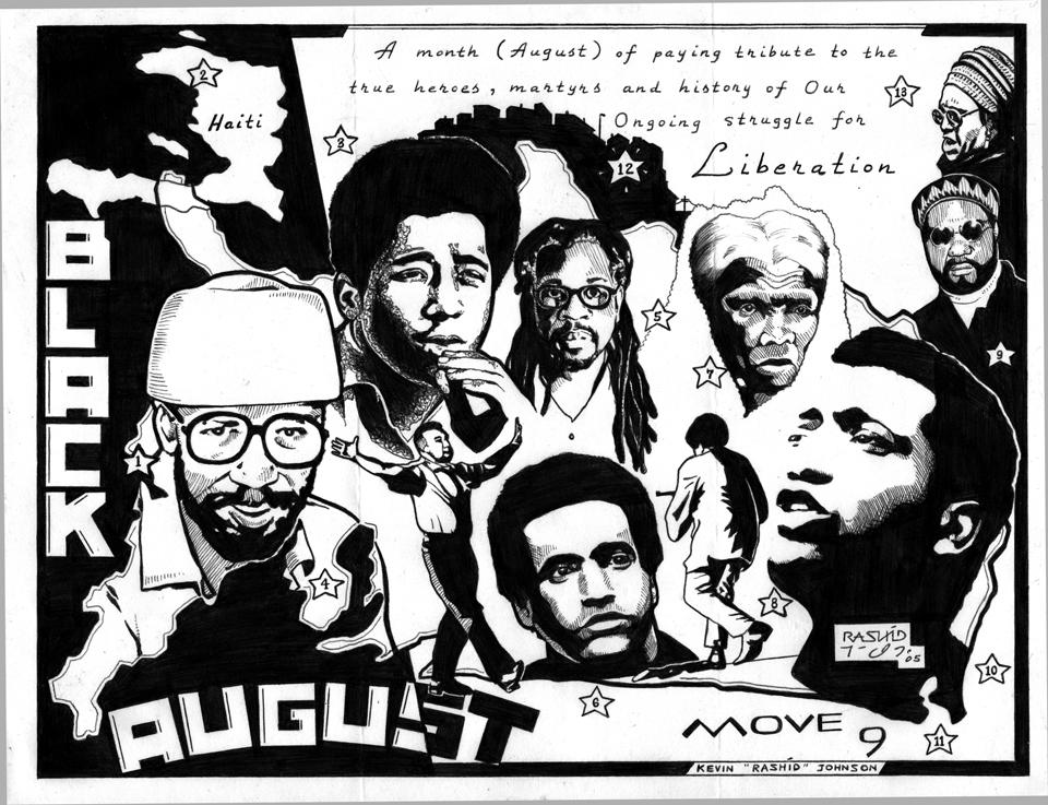 "Graphics by Political Prisoner Kevin ""Rashid"" Johnson"