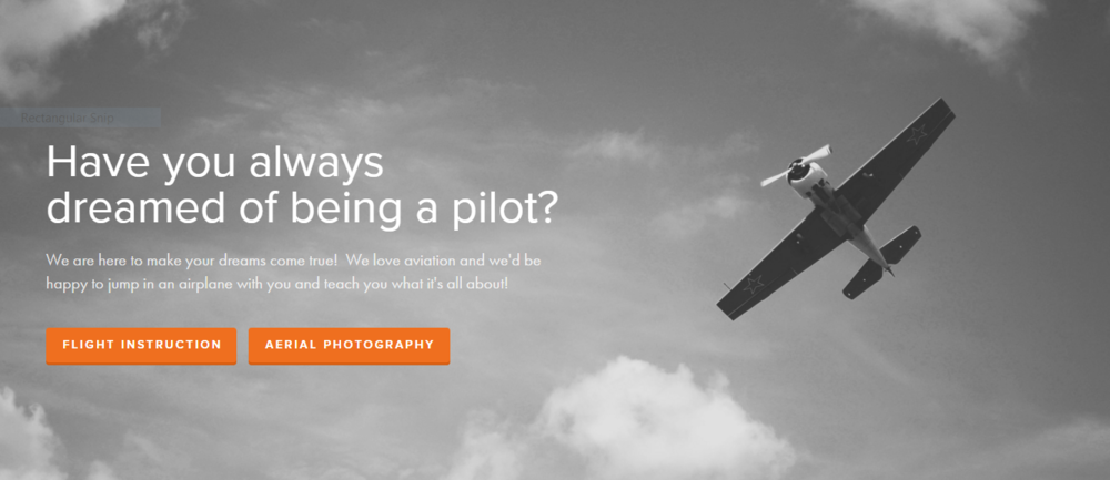 How to design a flight school website