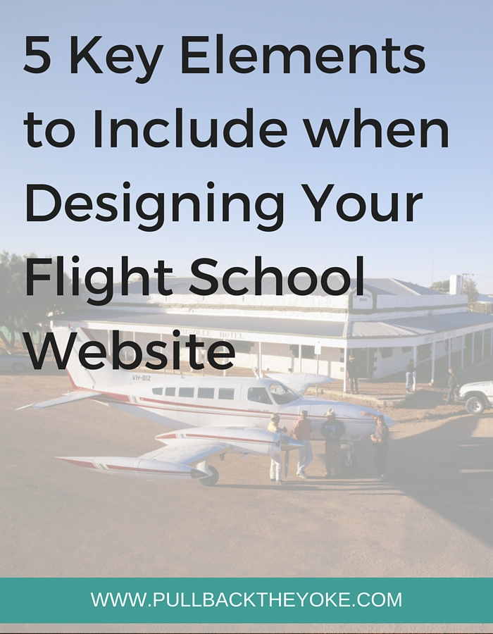 Building a Flight School Website