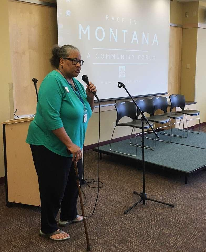 "Judith Heilman, executive director of the Montana Racial Equity Project says, ""the Montana Racial Equity Project is all about education and informing people. And then motivating them to activate. To interrupt.""  /  PHOTO CREDIT - MARA SILVERS"