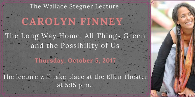 "The Montana State University Wallace Stegner Lecture Series is proud to present Dr. Carolyn Finney as the Fall 2017 Stegner Lecturer. Dr. Finney will speak on ""The Long Way Home: All Things Green and the Possibility of Us."" The event at The Ellen Theatre in Bozeman is free and open to the public; a reception will follow the lecture. Entrace is free but seats must be secured in advance at this link."