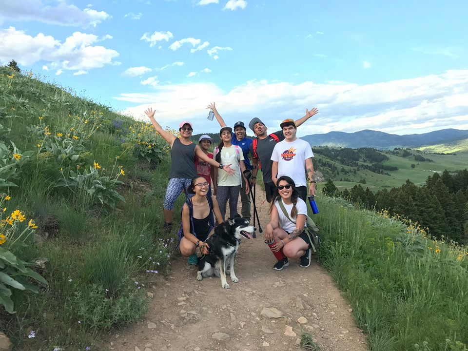 Members of Bozeman's new outdoors club, Earthtone OutsideMT, pose during a recent hike up Drinking Horse Trail in Gallatin Valley. Earthtone Outside seeks to elevate the presence of people with multi-racial background in the outdoors. PHOTO COURTESY OF EARTHTONE OUTSIDEMT