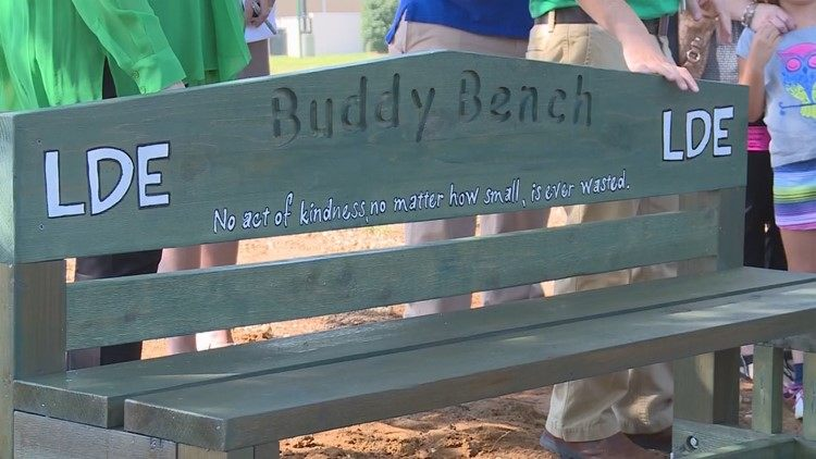 Love this idea! WFAA posted a story about a Buddy Bench at Lake Dallas ISD. If a child doesn't have someone to play with, the child sits on the Buddy Bench. If the other children see someone on the Buddy Bench, they ask that child to play. A Buddy Bench is a great way to move a mountain! Does your school have one?  https://www.wfaa.com/article/news/local/education/buddy-bench-brings-students-together/318949821
