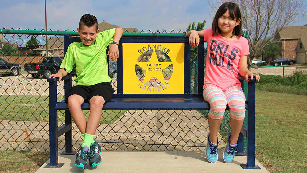 Way to go, Roanoke Elementary in Fort Worth, Texas, moving mountains with your Friendship Bench!