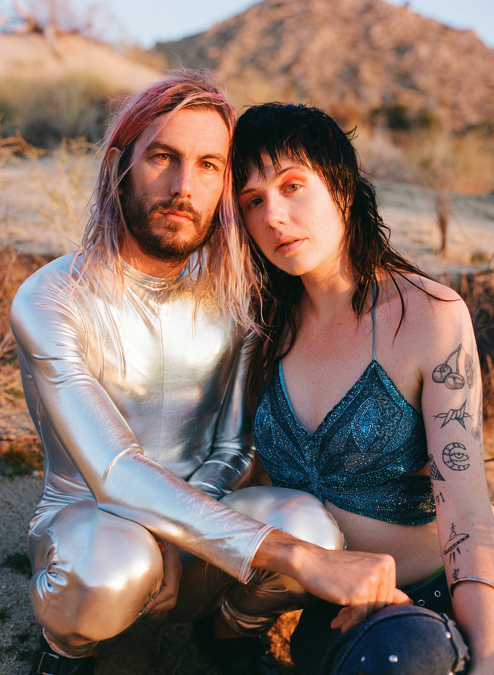 Jeffertitti & Dani photographed in Yucca Valley, CA in Mar. 2018.