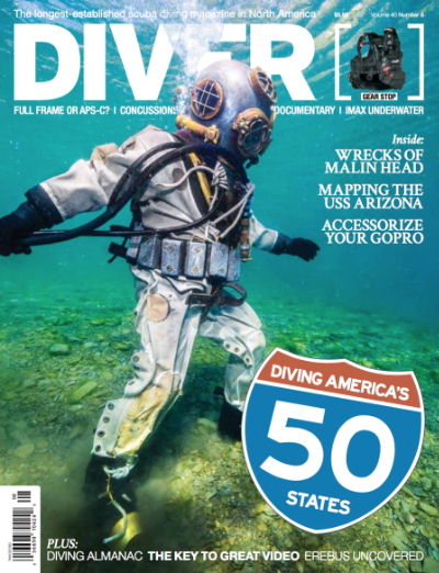 Featured in Diver Magazine in November 2015 for Fish Eye Project.