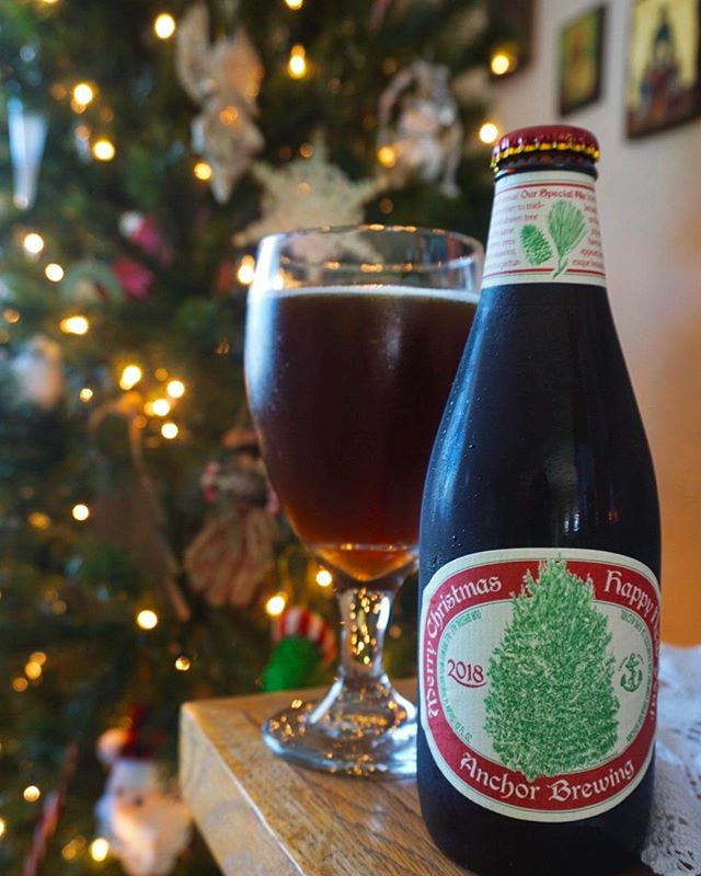 Happy Holidays from our home to yours! Come try this years special Christmas New Year ale from @anchorbrewing while they last! #JimmysKouzina