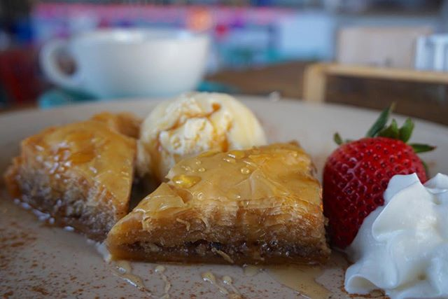 How can you say no to a Baklava a la mode?! #JimmysKouzina