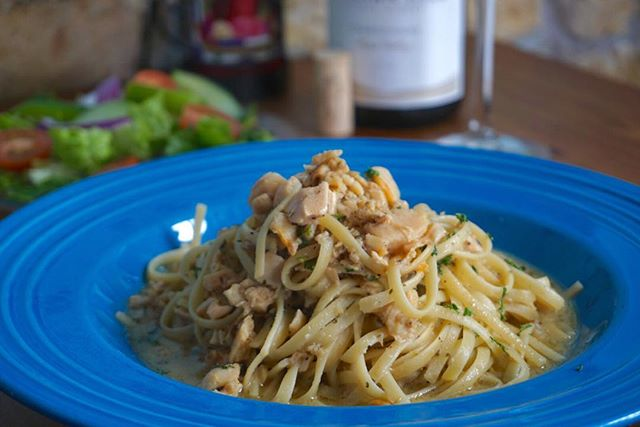 Our linguini and clam sauce has been on the menu for 35 years and we are still using Jimmy's same recipe from day one! #JimmysKouzina