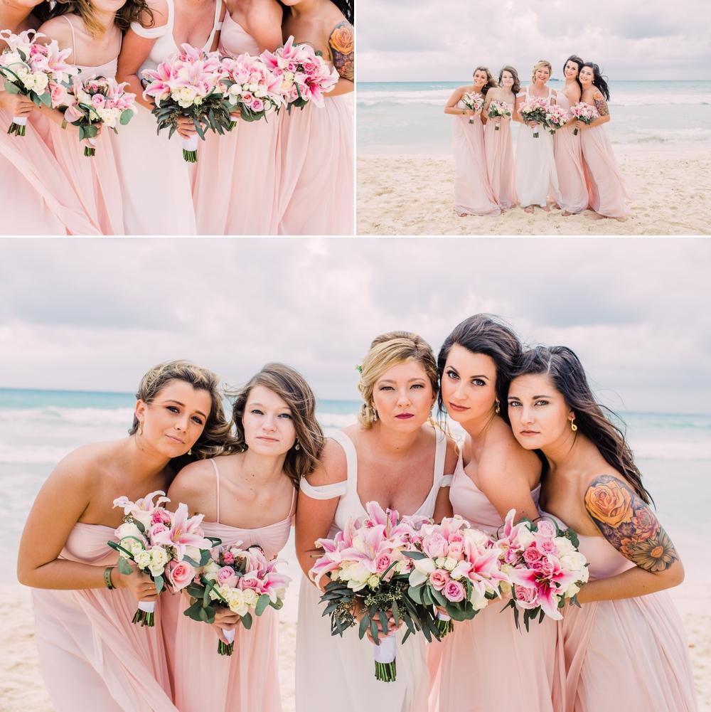 Destination Wedding Photography_Riu Palace Riviera Maya_Playa Del Carmen_Mexico_Bridal Party on the beach_Destination Wedding Photographer.jpg