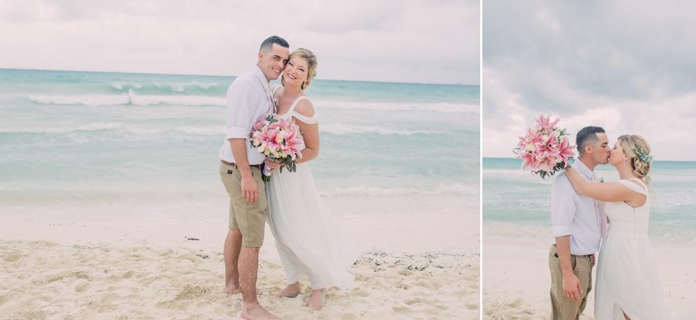 Destination Wedding Photography_Riu Palace Riviera Maya_Playa Del Carmen_Mexico_bride and groom on beach_Destination Wedding Photographer.jpg