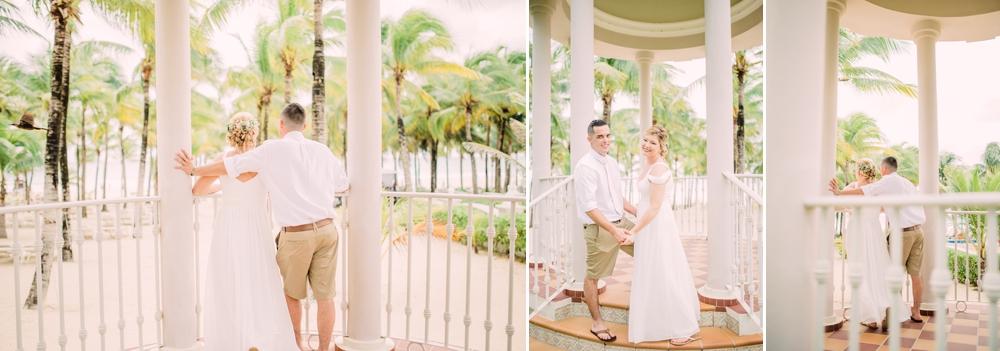 Destination Wedding Photography_Riu Palace Riviera Maya_Playa Del Carmen_Mexico_bride and groom portrait in gazebo_looking at ocean_Destination Wedding Photographer.jpg