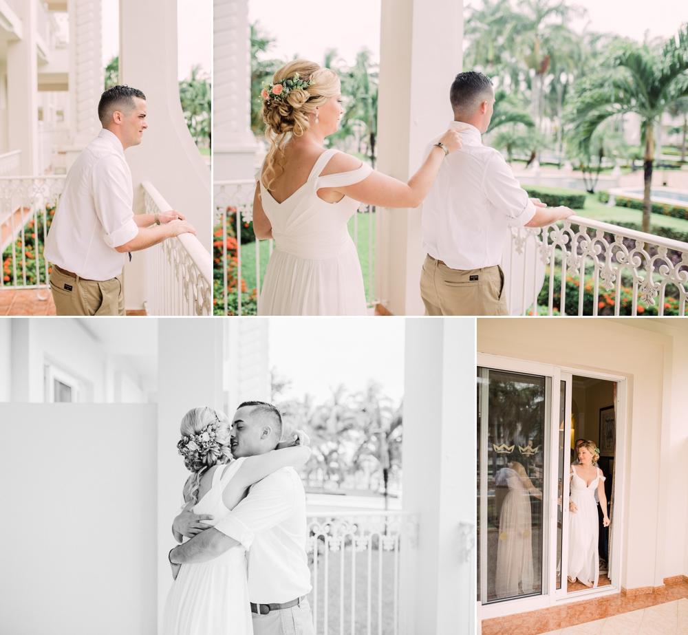 Destination Wedding Photography_Riu Palace Riviera Maya_Playa Del Carmen_Mexico_first look with bride and groom_Destination Wedding Photographer.jpg