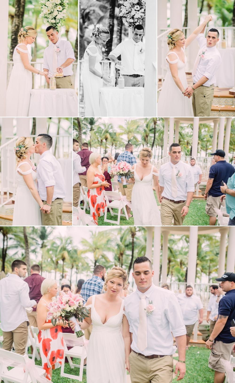 Destination Wedding Photography_Riu Palace Riviera Maya_Playa Del Carmen_Mexico_first kiss and recessional_Destination Wedding Photographer.jpg