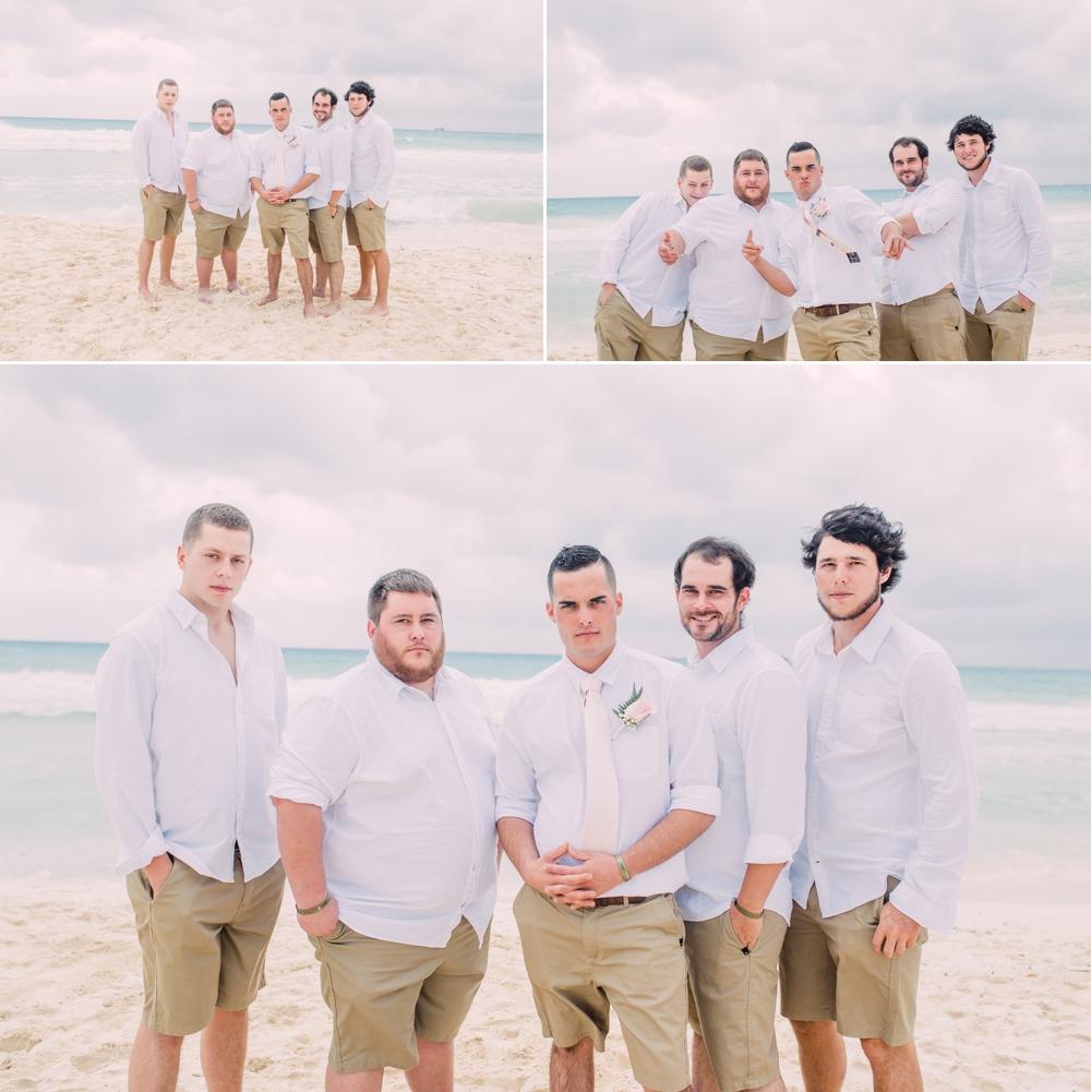 Destination Wedding Photography_Riu Palace Riviera Maya_Playa Del Carmen_Mexico_groom and groomsmen on the beach_Destination Wedding Photographer.jpg