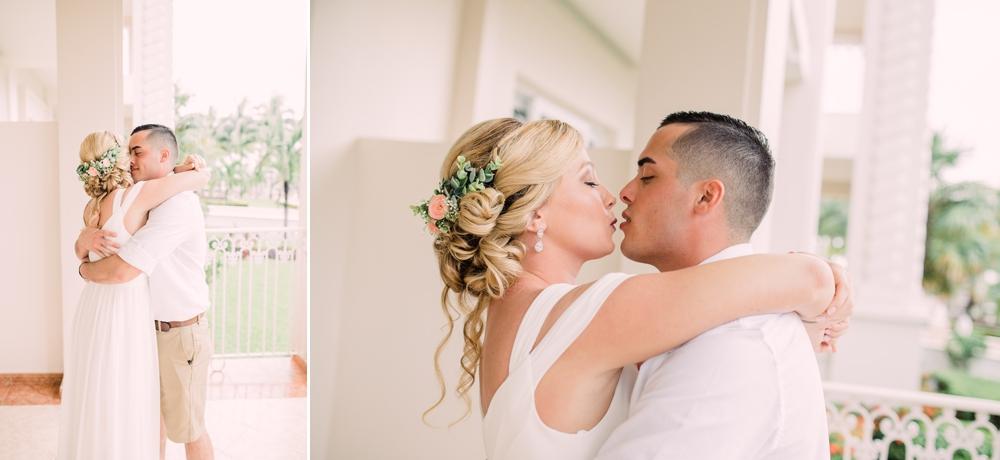 Destination Wedding Photography_Riu Palace Riviera Maya_Playa Del Carmen_Mexico_kiss first look _Destination Wedding Photographer.jpg