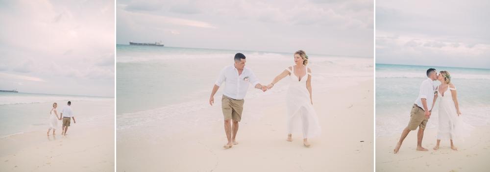 Destination Wedding Photography_Riu Palace Riviera Maya_Playa Del Carmen_Mexico_sunset portraits on beach walking_Destination Wedding Photographer.jpg