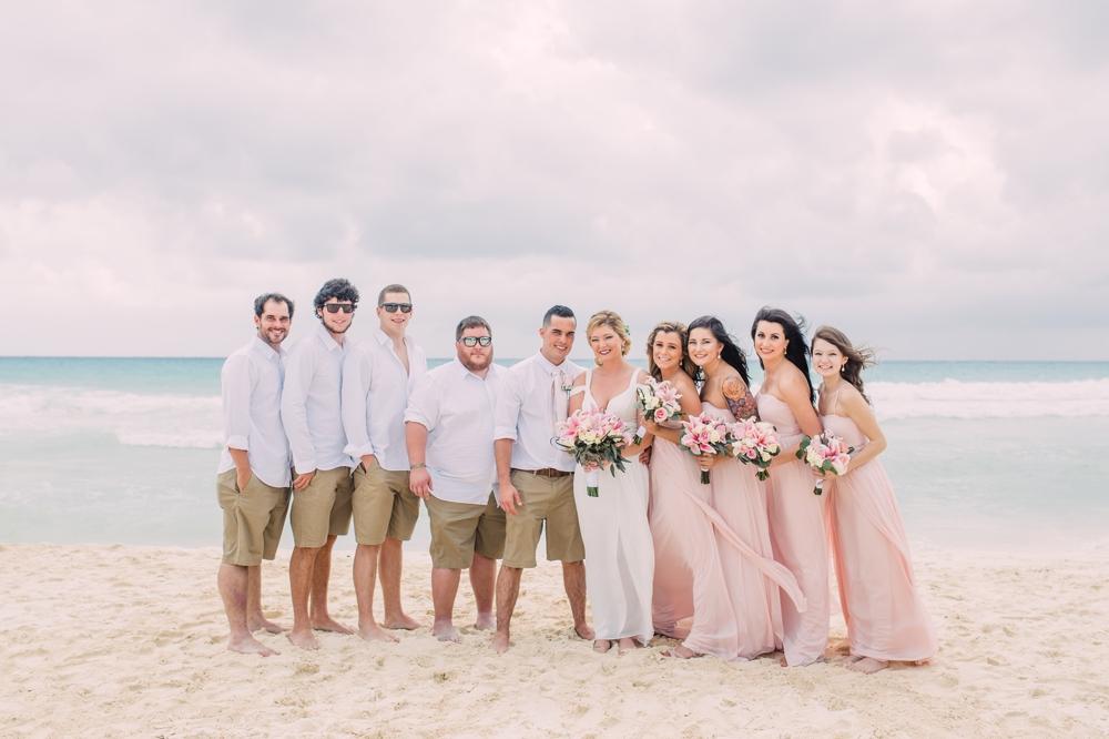 Destination Wedding Photography_Riu Palace Riviera Maya_Playa Del Carmen_Mexico_wedding party portrait on the beach_Destination Wedding Photographer.jpg
