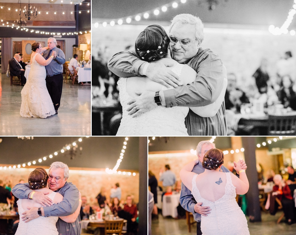 Wedding Photography-Gatherings by Farmhouse Catering-Nevada-Iowa-bride and father embracing-Iowa Wedding Photographer.jpg