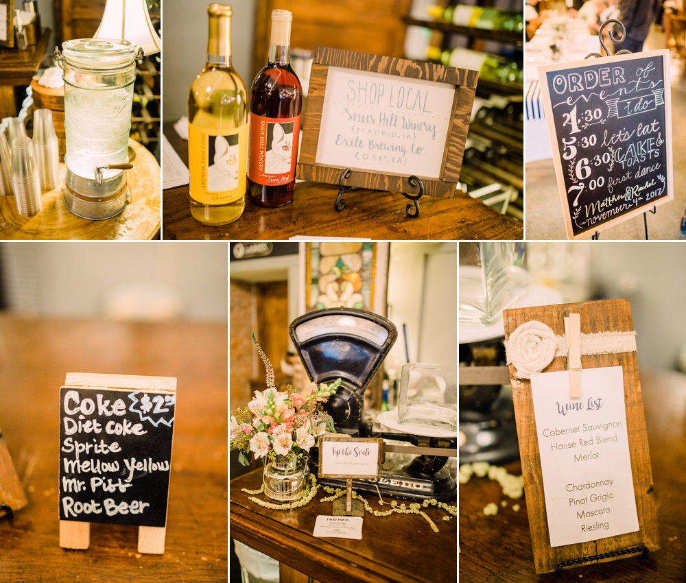 Wedding Photography-Gatherings by Farmhouse Catering-Nevada-Iowa-reception details by bar-Iowa Wedding Photographer.jpg