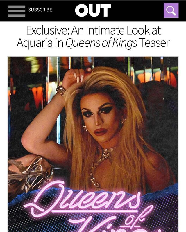 be sure to check @outmagazine for the #exclusive trailer for #season3 of @queensofkingsnyc (link in bio)!! and be sure to download the @revrytv app so you can check out the S3 PREMIERE, featuring @ageofaquaria, on September 14th! #queensofkings #revry #qok #aquaria #ageofaquaria #brooklyndrag #lgbtq