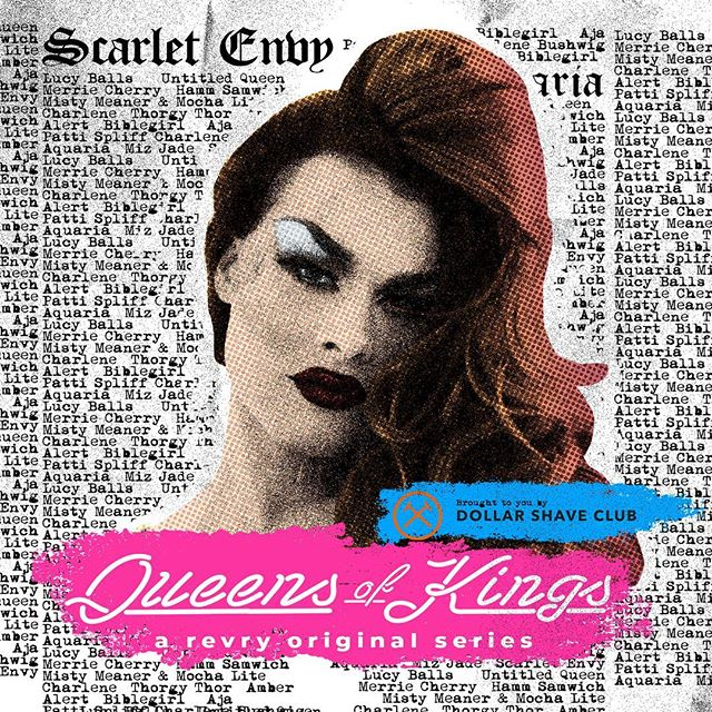 the third episode of @queensofkingsnyc is now LIVE and available to watch for FREE  on @revrytv (link in bio), thanks to @dollarshaveclub. join us as we spin a tale of @scarletenvy and share the story of the cabaret debut of this #mainstay of the #brooklyndrag community. watch now and be sure to catch up on the rest of #season3 feat. @ageofaquaria and @mizjade_davon! * * * #queensofkings #qok #revry #scarletenvy #smokeandmirrors #beezeetv #dragrace #dragqueen #cabaret #lgbtq