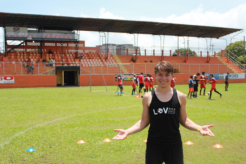 from Costa Rica with LOVE: we're loving this photo of one of our players Edgar mid-training while on his soccer-service summer trip with our partners at WOZA soccer! it's Edgar's first trip internationally and we couldn't be more excited for him. Edgar is our third Open Goal Project player to go on their very first international trip this summer, because of your support. thank you for helping open goals all summer and all year long. grab your own LOVE tank, shirt or hoodie on our website-each unit sold helps provide opportunities on and off the field for talented young soccer players in DC.