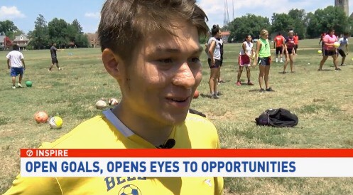 "one of our players, Edgar, who is currently on his first ever international trip with our partners WOZA Soccer in Costa Rica,  was just featured on ABC7 News' ""Inspire"" segment  as he shared his story, his passion for the game and how Open Goal Project helps provide opportunities for him on and off the field.   watch the feature here."