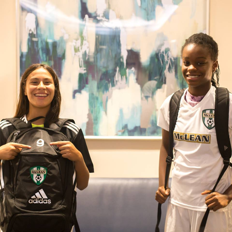 how about some GOOD news?! meet Precious and Ariana. just a couple of years ago, the only organized soccer these two supremely talented young ladies were playing after school was through  DC SCORES .  fast forward to now: with the support of  Open Goal Project , Precious and Ariana are playing on McLean's ECNL team, one of the top youth girls teams in the region. the program they're playing with sends the vast majority of their players off to play soccer at Division I universities. already this season, Precious and Ariana have traveled with their team to compete in matches and tournaments in North Carolina and Florida and in just weeks they'll be playing against some of the nation's best teams in a tournament in Arizona.  with the support of our community, we've been able to help put Precious and Ariana in a position to capitalize on their natural potential. we can't wait to see where they go from here.   click here to help us open even more goals for talented youth players like Precious and Ariana!