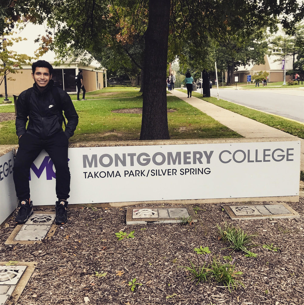 our mission  is to provide our players with opportunities to grow on and off the field, using soccer as a vehicle for greater life experiences. we believe we can use the power of soccer to empower our players to develop as young men and women and so we're thrilled to watch one of our former Open Goal Projects players, Sam, kick off his college career in the classroom at Montgomery College. while his first year he'll be focusing on school and work, he's hoping to strap on his boots for MC's team in his second year. Sam will be the first member of his family to go to college and we couldn't be more excited to watch him continue to develop as a young player and a young man.  believe in something bigger: thank you for helping open goals ⚽️⚽️⚽️