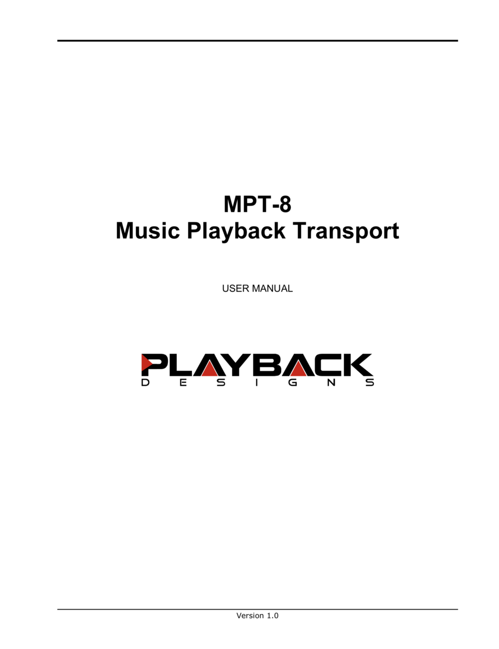 Download MPT-8 User Manual