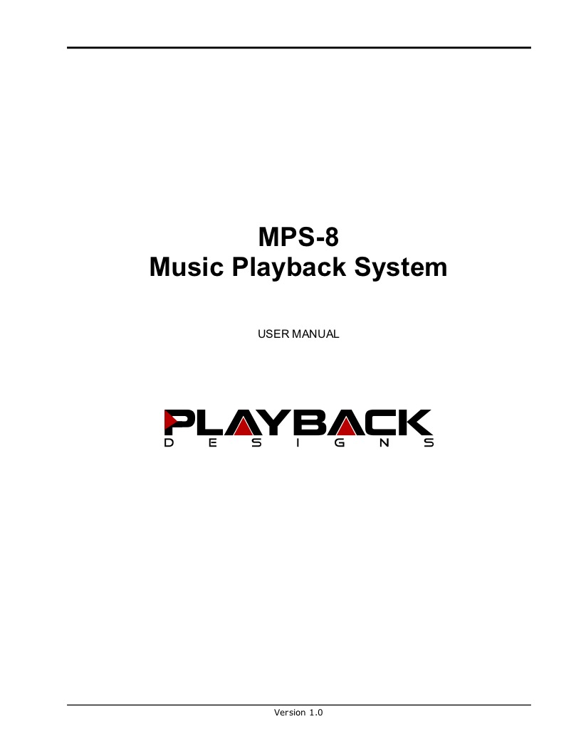 Download MPS-8 User Manual