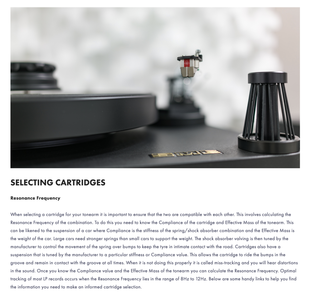 Visit our Guide for Selecting the Best Phono Cartridge