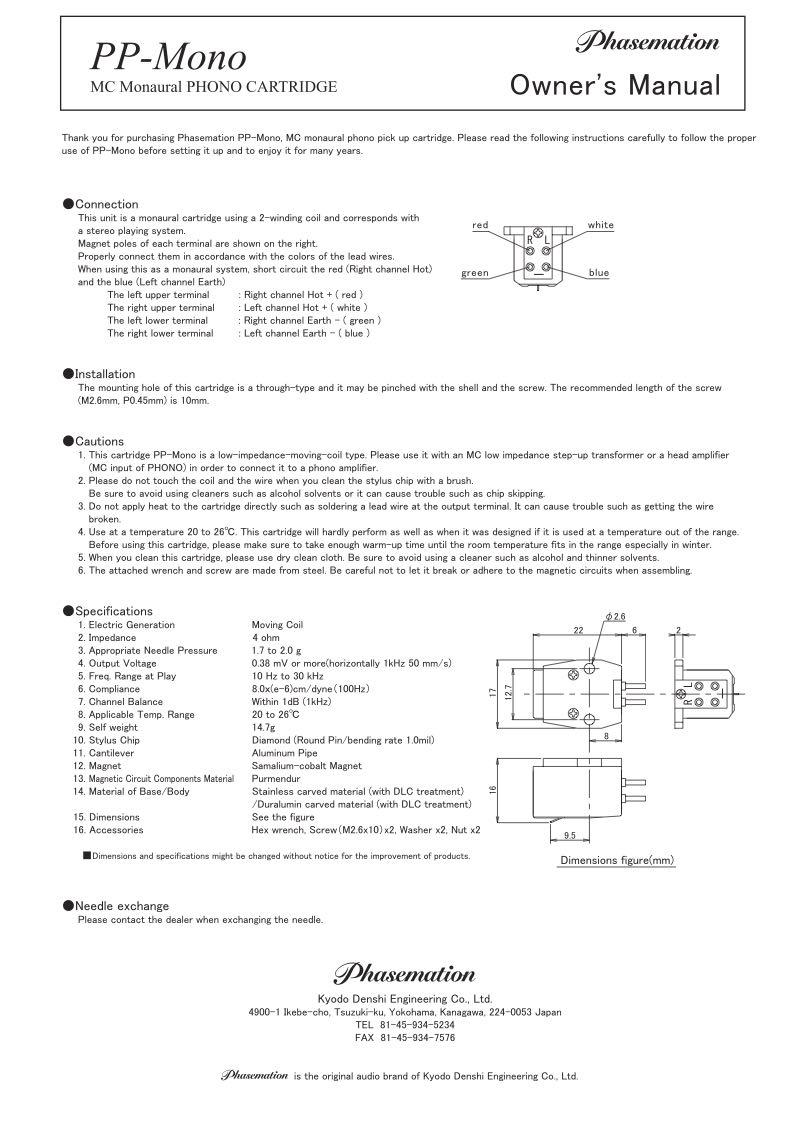 Download PP-Mono Manual