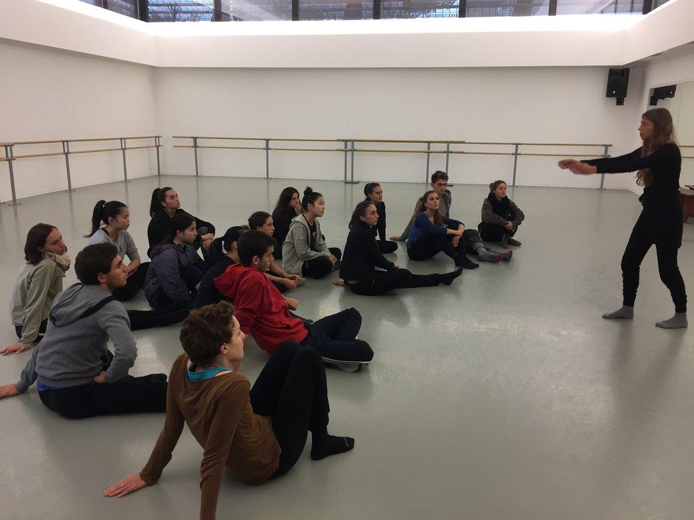 Atelier d'initiation au Soundpainting au studio de Mougins d'Audrey Vallarino avec les élèves de DNSP 2