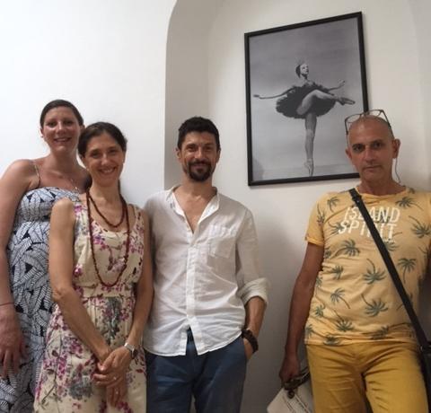 De gauche à droite : Hélène Bouchez, Paola Cantalupo, Marco Cantalupo, Maurice Courchay.