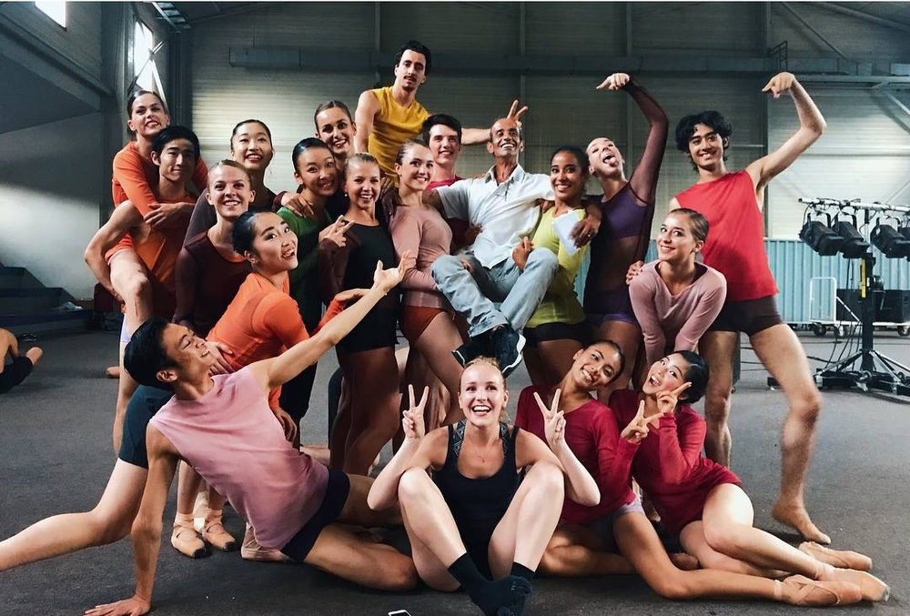 Le CJB Rosella Hightower et leur maître de ballet Hacène Bahiri