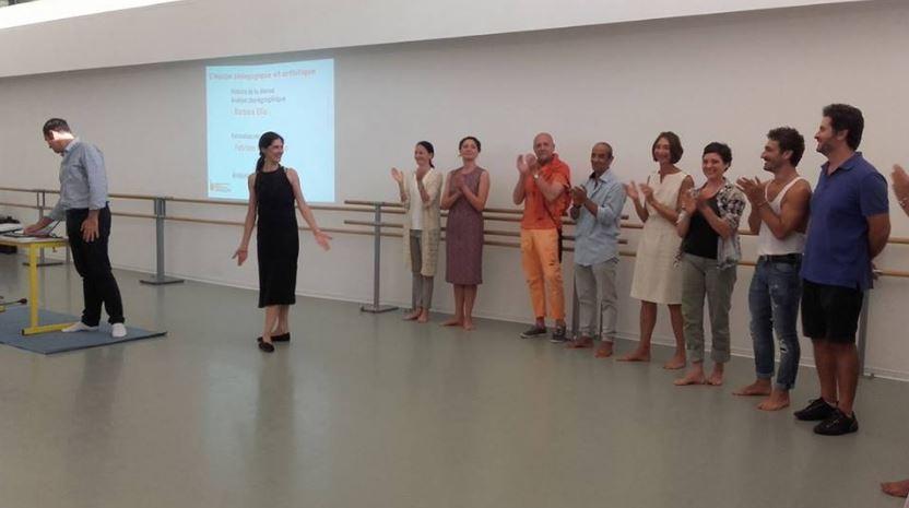 Une partie de l'équipe pédagogique du cycle Danse-Etudes
