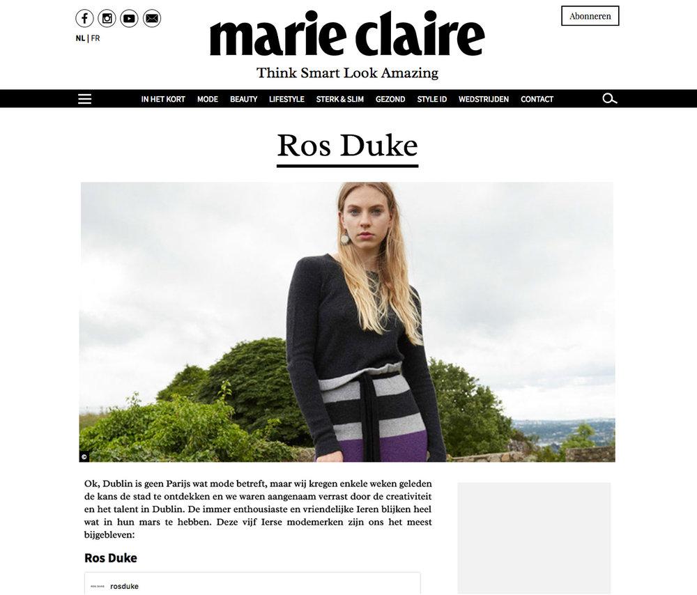 Marie Claire Belgium Feb '17