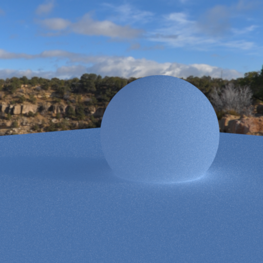 Environment map with importance sampling