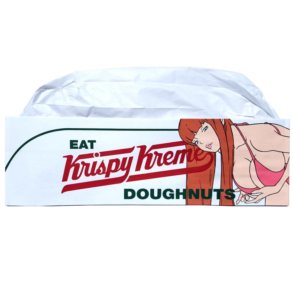 Krispy Kreme - Acrylic on doughnut cap