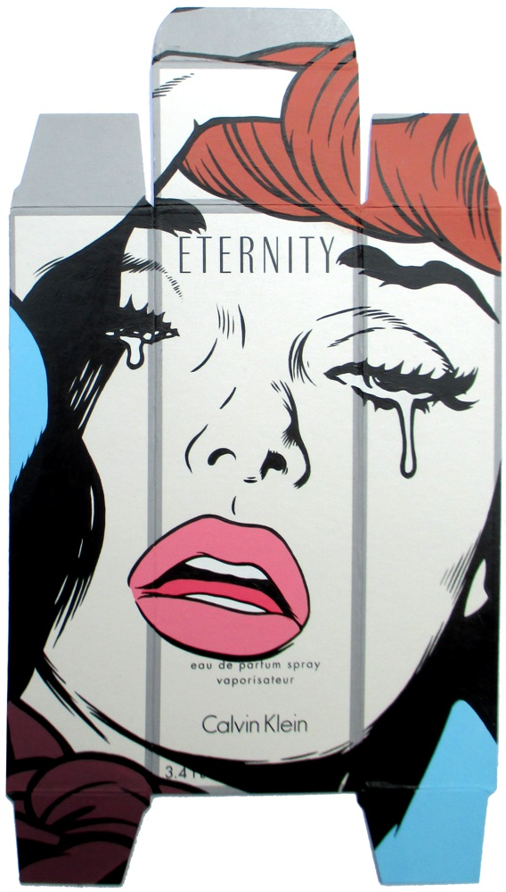 From Her To Eternity - Acrylic on perfume package.  2015