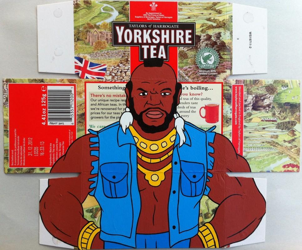 Yorkshire Tea - Acrylic on tea package. 2012