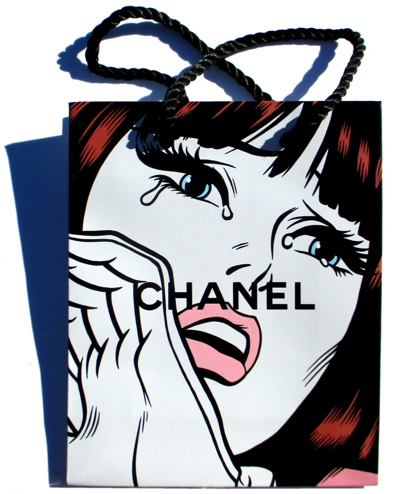 Fashion Lover - Acrylic on Chanel package.  2015
